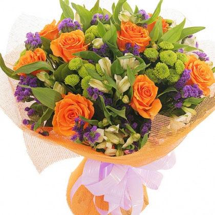 Букеты цветов Оранжевое лето