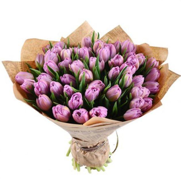 Букеты цветов 51 тюльпан
