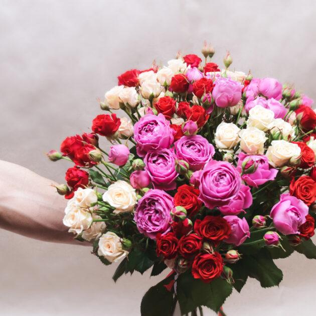 Букеты цветов Малиновый рассвет