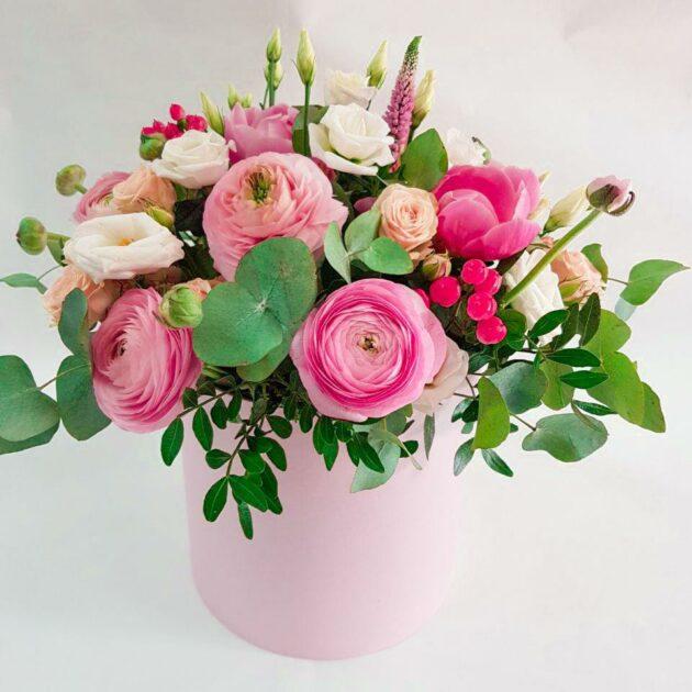 Цветочные коробки Розовое облако