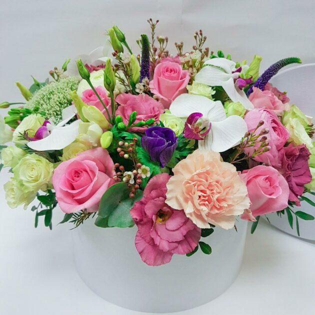 Цветочные коробки Ванильное небо
